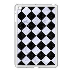 Square2 Black Marble & White Marble Apple Ipad Mini Case (white) by trendistuff