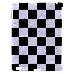 Square1 Black Marble & White Marble Apple Ipad 3/4 Hardshell Case (compatible With Smart Cover) by trendistuff