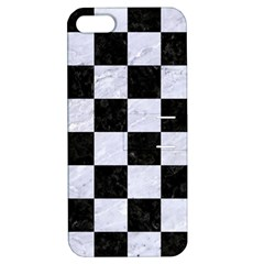 Square1 Black Marble & White Marble Apple Iphone 5 Hardshell Case With Stand by trendistuff