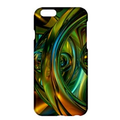 3d Transparent Glass Shapes Mixture Of Dark Yellow Green Glass Mixture Artistic Glassworks Apple Iphone 6 Plus/6s Plus Hardshell Case by Onesevenart