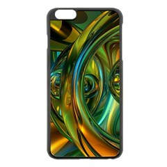 3d Transparent Glass Shapes Mixture Of Dark Yellow Green Glass Mixture Artistic Glassworks Apple Iphone 6 Plus/6s Plus Black Enamel Case by Onesevenart