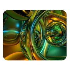 3d Transparent Glass Shapes Mixture Of Dark Yellow Green Glass Mixture Artistic Glassworks Double Sided Flano Blanket (large)  by Onesevenart