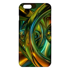 3d Transparent Glass Shapes Mixture Of Dark Yellow Green Glass Mixture Artistic Glassworks Iphone 6 Plus/6s Plus Tpu Case by Onesevenart