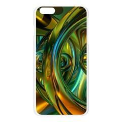3d Transparent Glass Shapes Mixture Of Dark Yellow Green Glass Mixture Artistic Glassworks Apple Seamless iPhone 6 Plus/6S Plus Case (Transparent) by Onesevenart