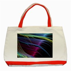 Abstract Satin Classic Tote Bag (red) by Onesevenart