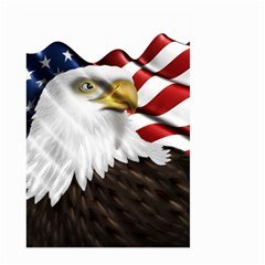 American Eagle Flag Sticker Symbol Of The Americans Large Garden Flag (two Sides) by Onesevenart