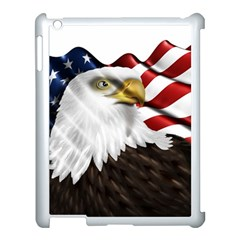 American Eagle Flag Sticker Symbol Of The Americans Apple Ipad 3/4 Case (white) by Onesevenart