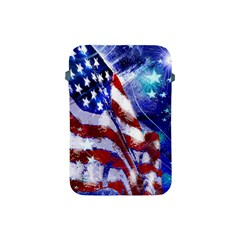 American Flag Red White Blue Fireworks Stars Independence Day Apple Ipad Mini Protective Soft Cases by Onesevenart