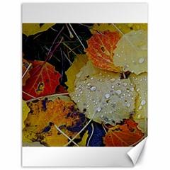 Autumn Rain Yellow Leaves Canvas 18  X 24   by Onesevenart
