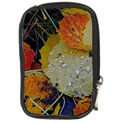 Autumn Rain Yellow Leaves Compact Camera Cases by Onesevenart