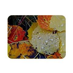 Autumn Rain Yellow Leaves Double Sided Flano Blanket (mini)  by Onesevenart