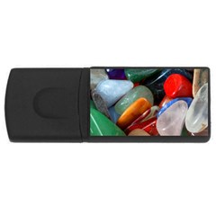Beautiful Stones In Different Colors Colorful Usb Flash Drive Rectangular (4 Gb) by Onesevenart