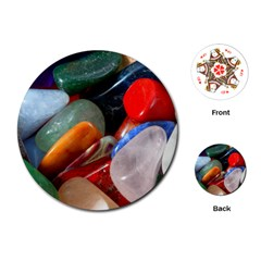 Beautiful Stones In Different Colors Colorful Playing Cards (round)  by Onesevenart