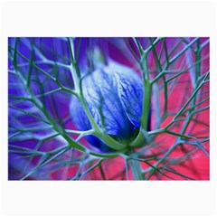 Blue Flowers With Thorns Large Glasses Cloth (2 Side) by Onesevenart