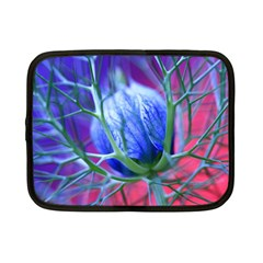 Blue Flowers With Thorns Netbook Case (small)  by Onesevenart