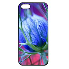 Blue Flowers With Thorns Apple Iphone 5 Seamless Case (black) by Onesevenart
