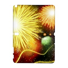 Celebration Colorful Fireworks Beautiful Galaxy Note 1 by Onesevenart