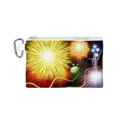 Celebration Colorful Fireworks Beautiful Canvas Cosmetic Bag (s) by Onesevenart