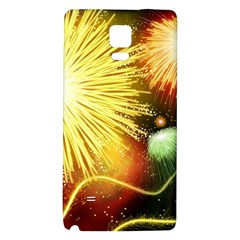 Celebration Colorful Fireworks Beautiful Galaxy Note 4 Back Case by Onesevenart