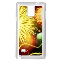 Celebration Colorful Fireworks Beautiful Samsung Galaxy Note 4 Case (white) by Onesevenart