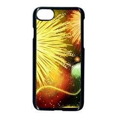 Celebration Colorful Fireworks Beautiful Apple Iphone 7 Seamless Case (black) by Onesevenart