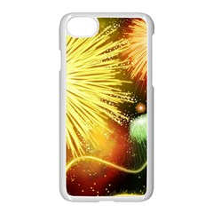 Celebration Colorful Fireworks Beautiful Apple iPhone 7 Seamless Case (White) by Onesevenart