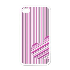 Pink Love Pattern Apple Iphone 4 Case (white) by Valentinaart