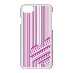 Pink Love Pattern Apple Iphone 7 Seamless Case (white) by Valentinaart