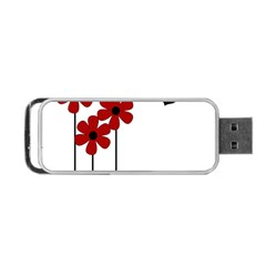 Flowers Portable USB Flash (Two Sides) by Valentinaart