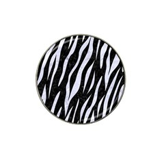 Skin3 Black Marble & White Marble Hat Clip Ball Marker (4 Pack) by trendistuff