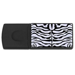 Skin2 Black Marble & White Marble (r) Usb Flash Drive Rectangular (4 Gb) by trendistuff