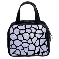 Skin1 Black Marble & White Marble Classic Handbag (two Sides) by trendistuff