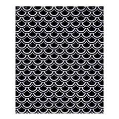 Scales2 Black Marble & White Marble Shower Curtain 60  X 72  (medium) by trendistuff