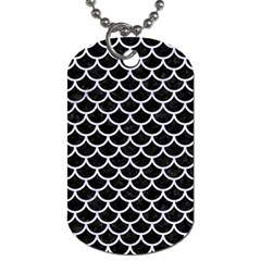 Scales1 Black Marble & White Marble Dog Tag (two Sides) by trendistuff