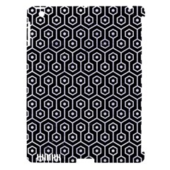 Hexagon1 Black Marble & White Marble Apple Ipad 3/4 Hardshell Case (compatible With Smart Cover) by trendistuff