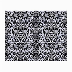 Damask2 Black Marble & White Marble (r) Small Glasses Cloth (2 Sides) by trendistuff