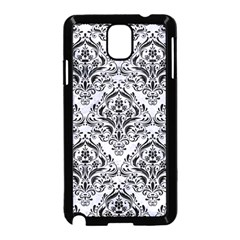 Damask1 Black Marble & White Marble (r) Samsung Galaxy Note 3 Neo Hardshell Case (black) by trendistuff