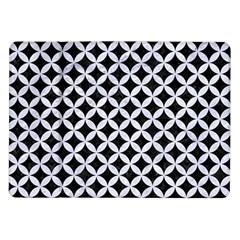 Circles3 Black Marble & White Marble Samsung Galaxy Tab 10 1  P7500 Flip Case by trendistuff