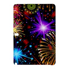 Celebration Fireworks In Red Blue Yellow And Green Color Samsung Galaxy Tab Pro 10 1 Hardshell Case by Onesevenart
