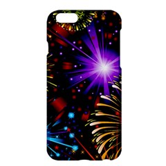 Celebration Fireworks In Red Blue Yellow And Green Color Apple Iphone 6 Plus/6s Plus Hardshell Case by Onesevenart