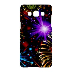 Celebration Fireworks In Red Blue Yellow And Green Color Samsung Galaxy A5 Hardshell Case  by Onesevenart