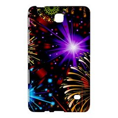 Celebration Fireworks In Red Blue Yellow And Green Color Samsung Galaxy Tab 4 (8 ) Hardshell Case  by Onesevenart