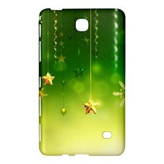 Christmas Green Background Stars Snowflakes Decorative Ornaments Pictures Samsung Galaxy Tab 4 (7 ) Hardshell Case  by Onesevenart