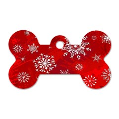 Christmas Pattern Dog Tag Bone (one Side) by Onesevenart