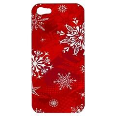 Christmas Pattern Apple Iphone 5 Hardshell Case by Onesevenart