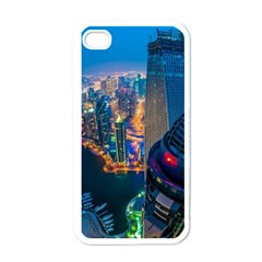 City Dubai Photograph From The Top Of Skyscrapers United Arab Emirates Apple Iphone 4 Case (white) by Onesevenart