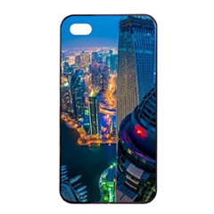 City Dubai Photograph From The Top Of Skyscrapers United Arab Emirates Apple Iphone 4/4s Seamless Case (black) by Onesevenart