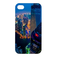 City Dubai Photograph From The Top Of Skyscrapers United Arab Emirates Apple Iphone 4/4s Premium Hardshell Case by Onesevenart