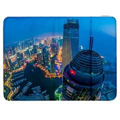 City Dubai Photograph From The Top Of Skyscrapers United Arab Emirates Samsung Galaxy Tab 7  P1000 Flip Case by Onesevenart