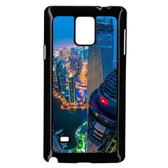 City Dubai Photograph From The Top Of Skyscrapers United Arab Emirates Samsung Galaxy Note 4 Case (black) by Onesevenart